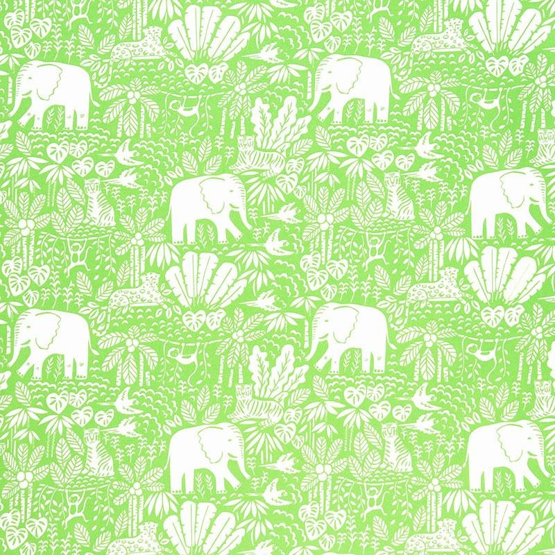 Jungle Paradise - Lime Elephants by Stacey Iest Hsu for Moda