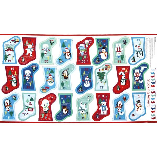Frosty by Henley - Stocking Advent Calendar Panel