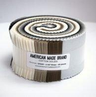 American Made Brand Cotton Solids Neutrals 2.5 Strips