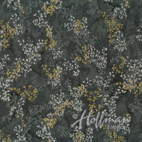 Precious Metals Batik - Slate Gold