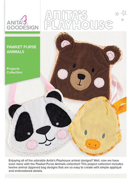 Pawket Purse Animals - Anita Goodesign