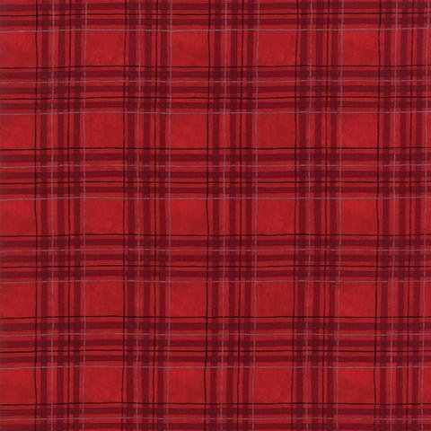 Hearthside Holiday Brushed Cotton - Red Small Plaid By Deb Strain for Moda