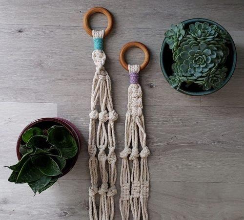 Aster & Vine Simple Macrame Plant Hanger Kit