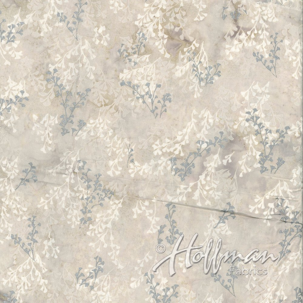 Precious Metals Batik - Marshmallow Silver