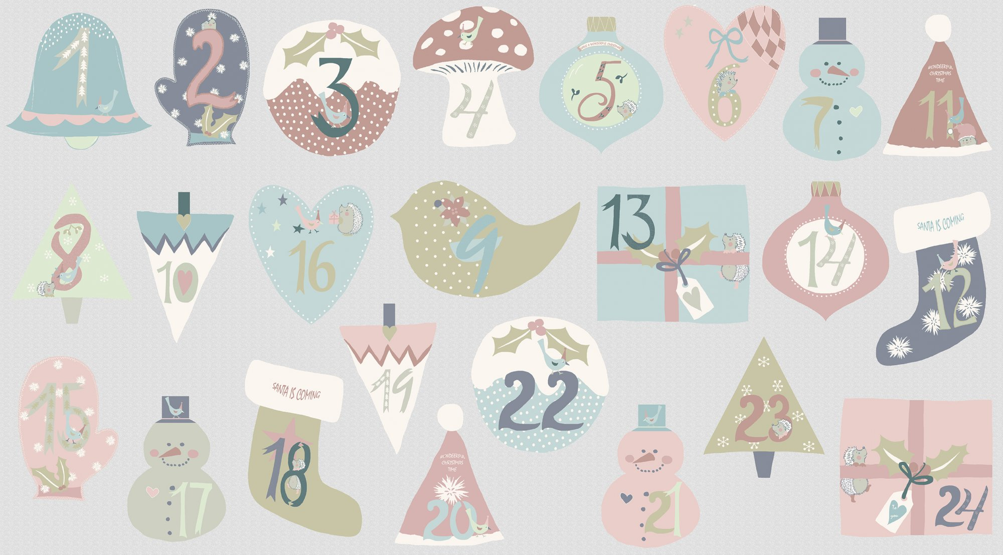 You Make Me Happy Christmas Advent Calendar Panel 24 by Stof