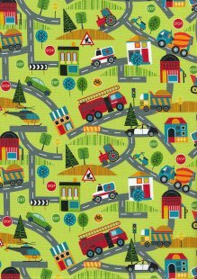 Around Town - Road Map Green by Nutex