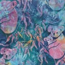 Shania Sunga Batiks - Koala & Baby - Rainbow