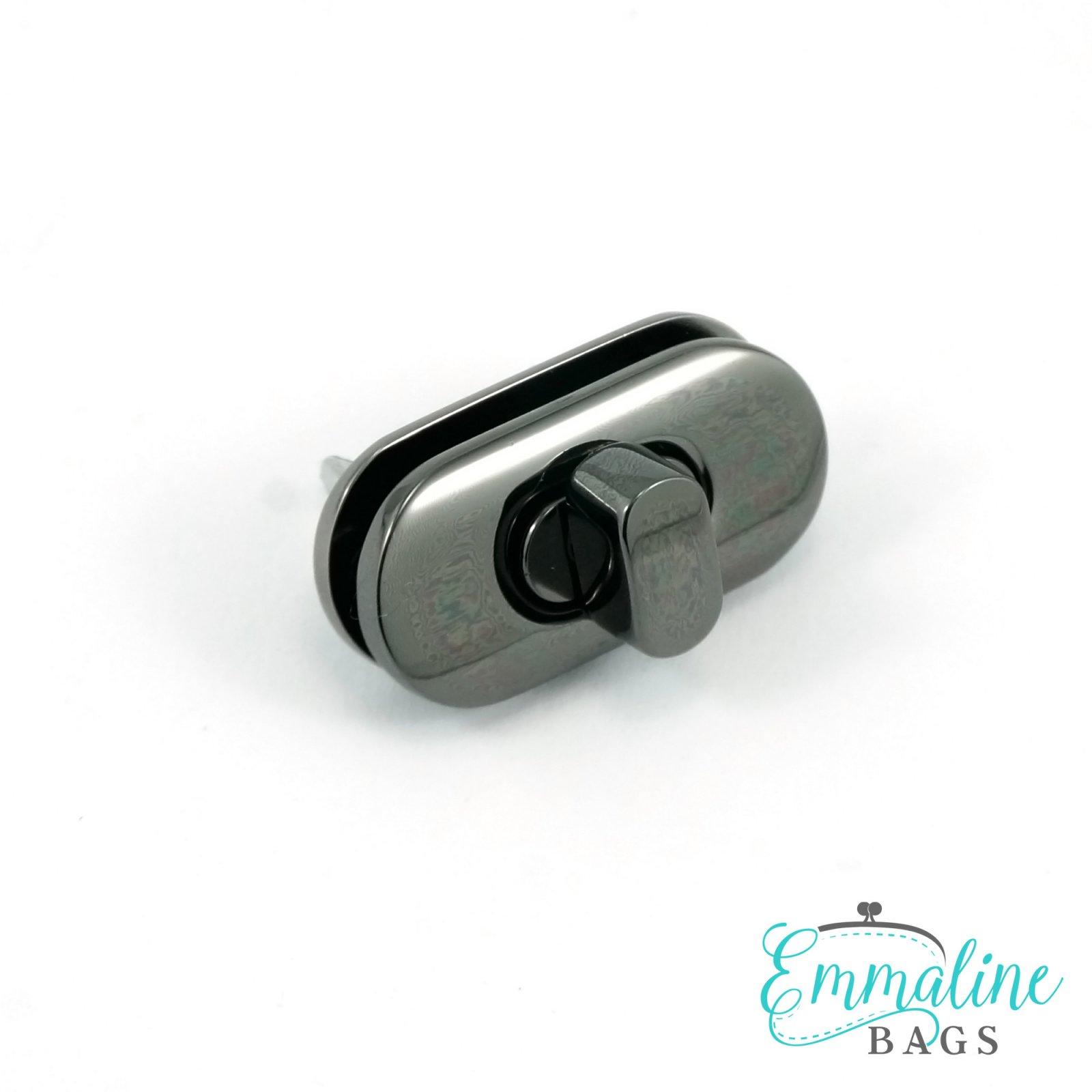 Emmaline Bags - Small Turn Lock in Gunmetal