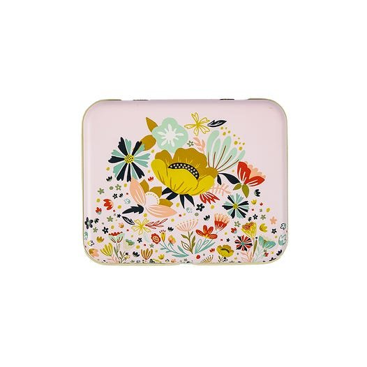 Small Floral Tin by Moda