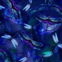 Garden Bliss - Saphire Dragonflies by Hoffman