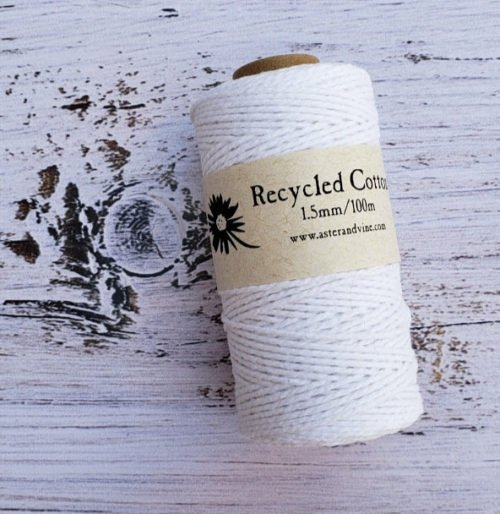 Aster & Vine Recycled Cotton Rope - 1.5mm Mini Rolls
