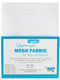 By Annie - Mesh Fabric 18 x 54 - White