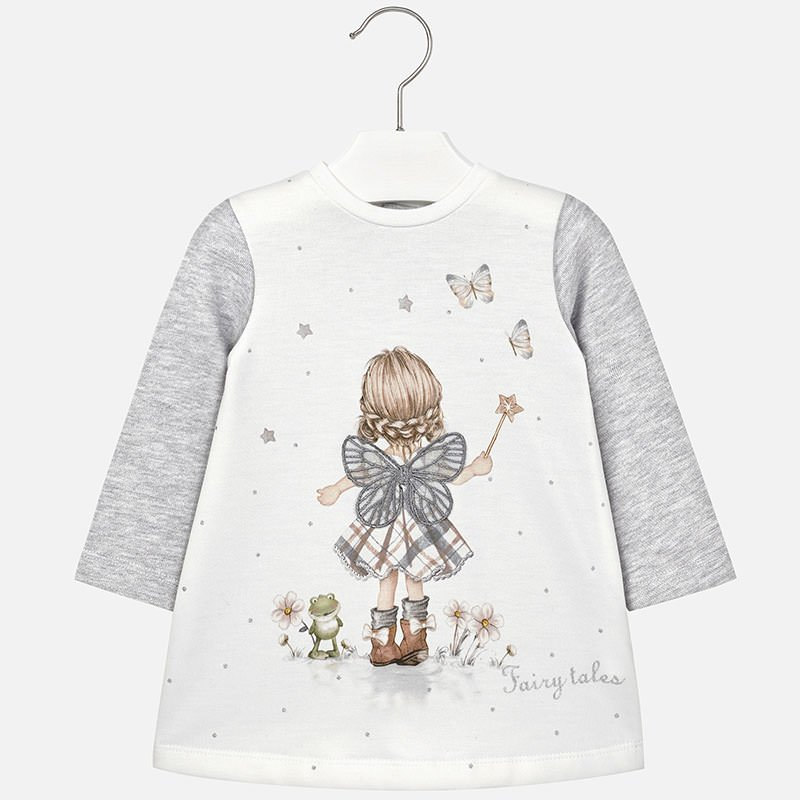 Mayoral Silver Fairy Sweater Dress