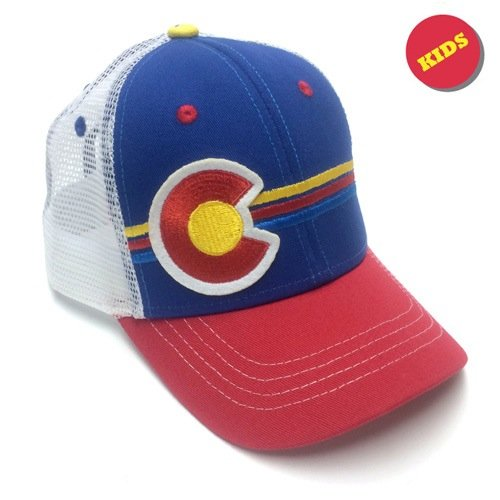 Colorado Kid's Candy Stripes Trucker Hat
