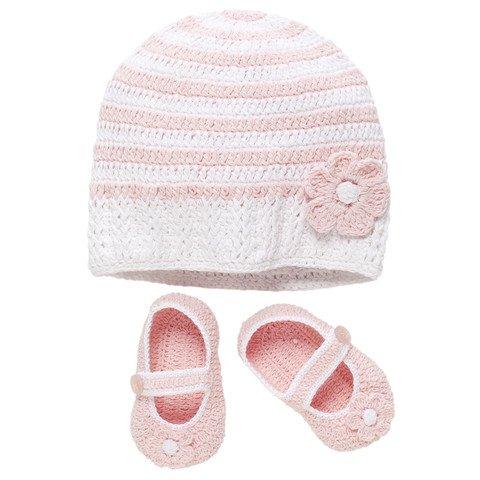 Hand- Crocheted Hat & Shoe Sets