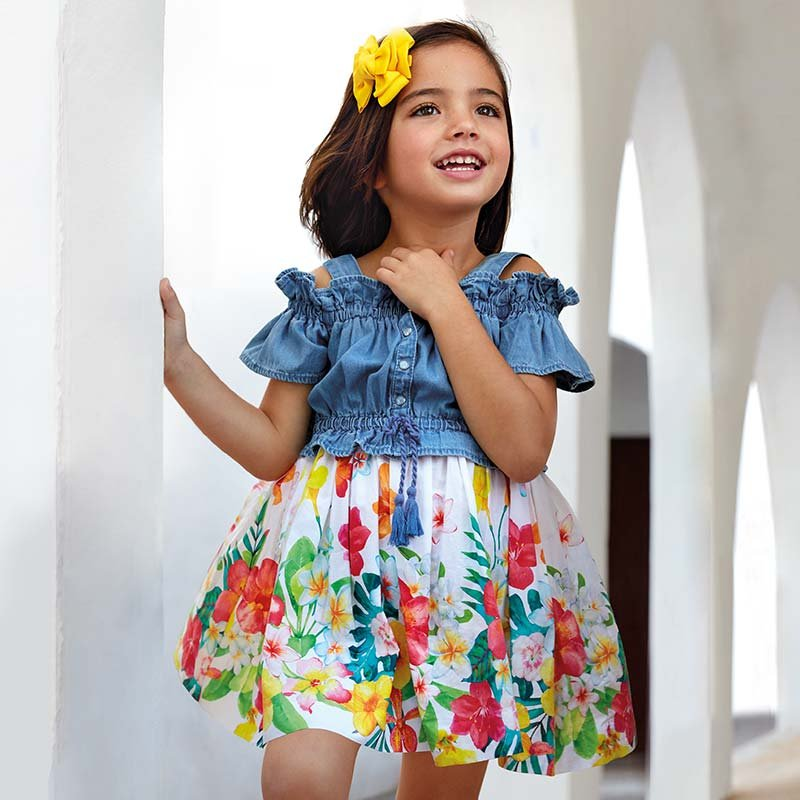 A Mayoral Denim Tropical Dress