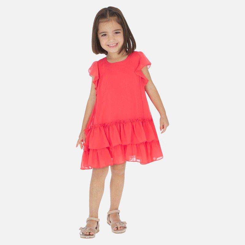 A Mayoral Watermelon Ruffled Dress