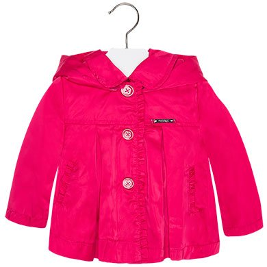 Mayoral Pink Trench with Hood