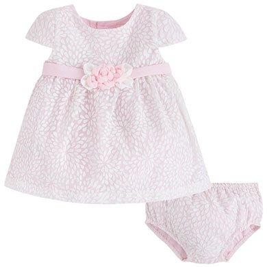 Mayoral Infant Rose Devore Dress
