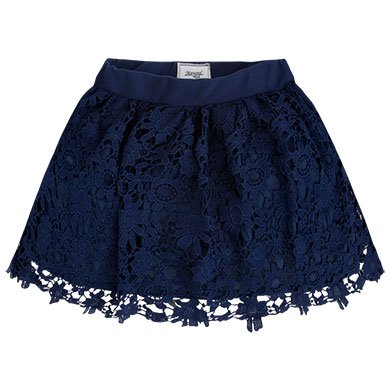 Mayoral Navy Guipure Skirt
