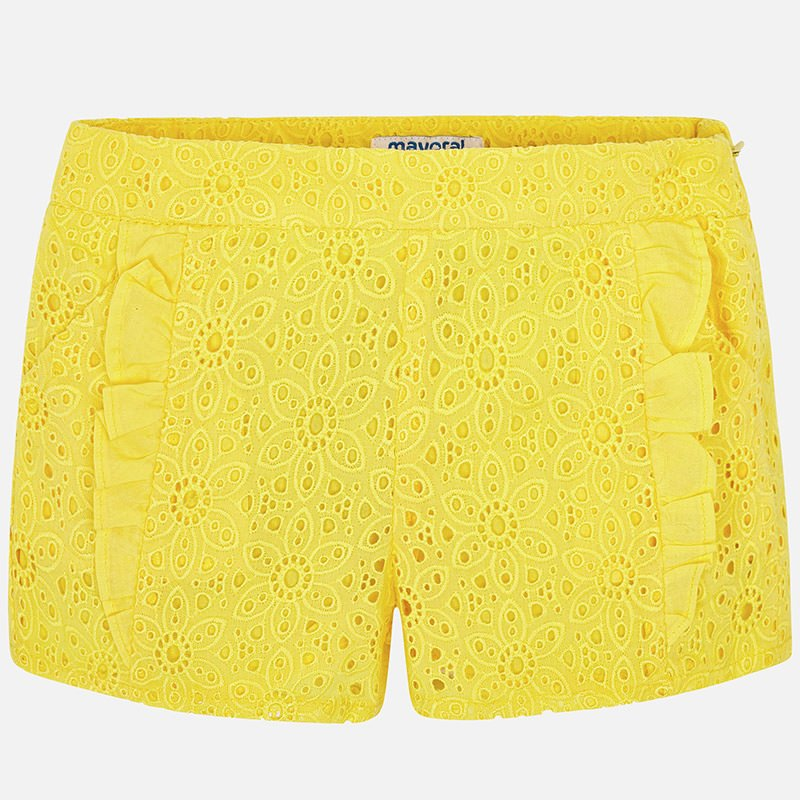 A Mayoral Yellow Lace Shorts