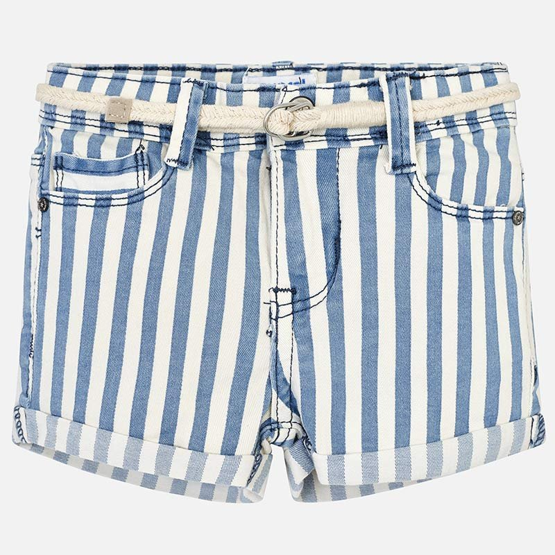 A Mayoral Blue Striped Shorts
