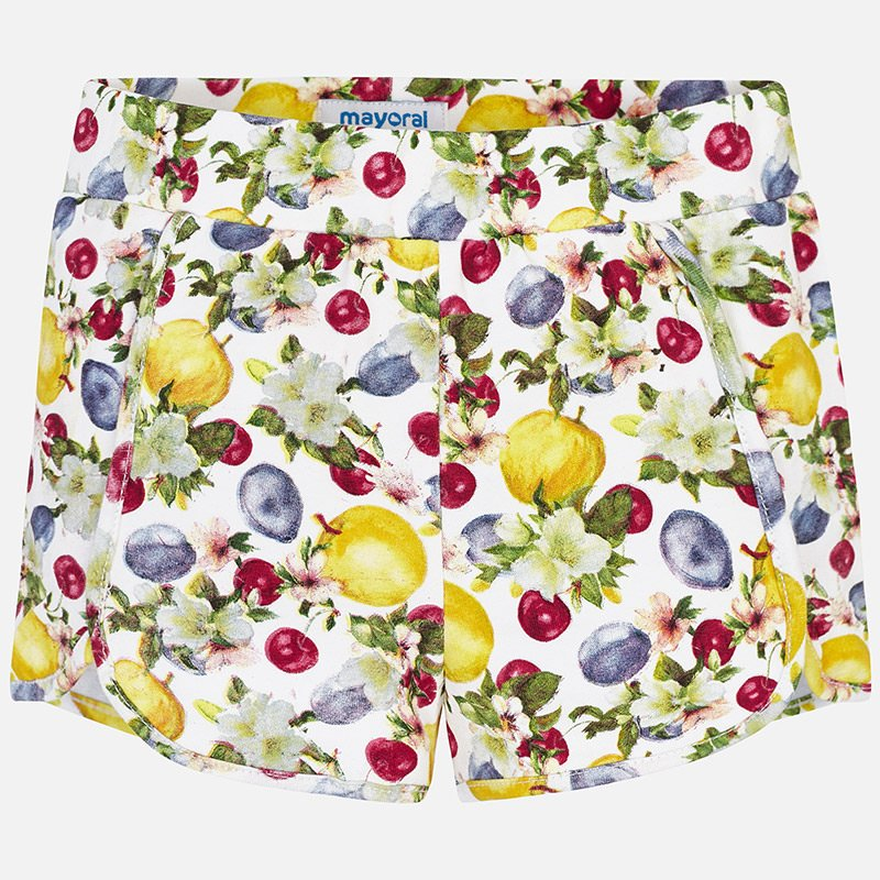 A Mayoral Yellow Printed Shorts