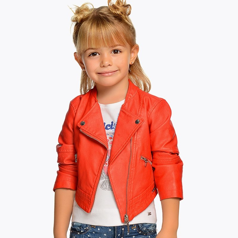 A Mayoral Persimmon Leatherette Jacket