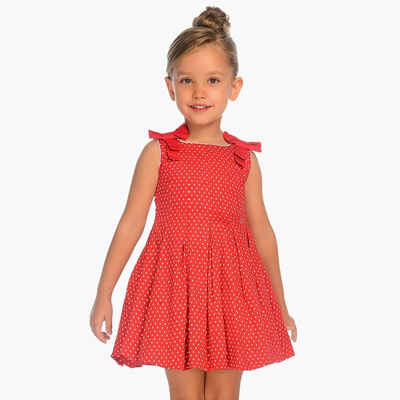 A Mayoral Red Polka Dot Dress