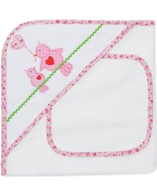 Elegant Baby Hooded Towel and Gift Set (Additional Prints Available)