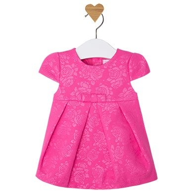 Mayoral Infant Fushia Cotton Dress