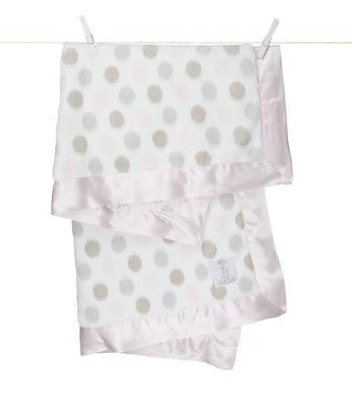 Little Giraffe Cream Dot Baby Blanket
