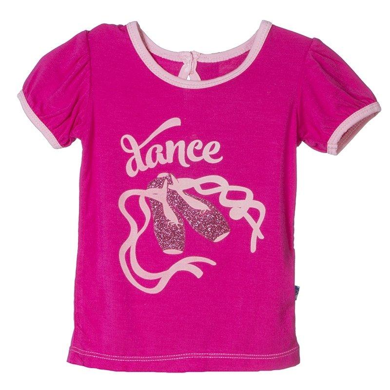 Kickee Pants Calypso Pink Dance Puff Tee