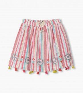 A Hatley Pink Lemonade Tassel Skirt