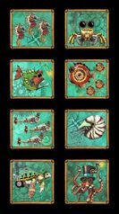 Aquatic Steampunkery panel from Quilting Treasures