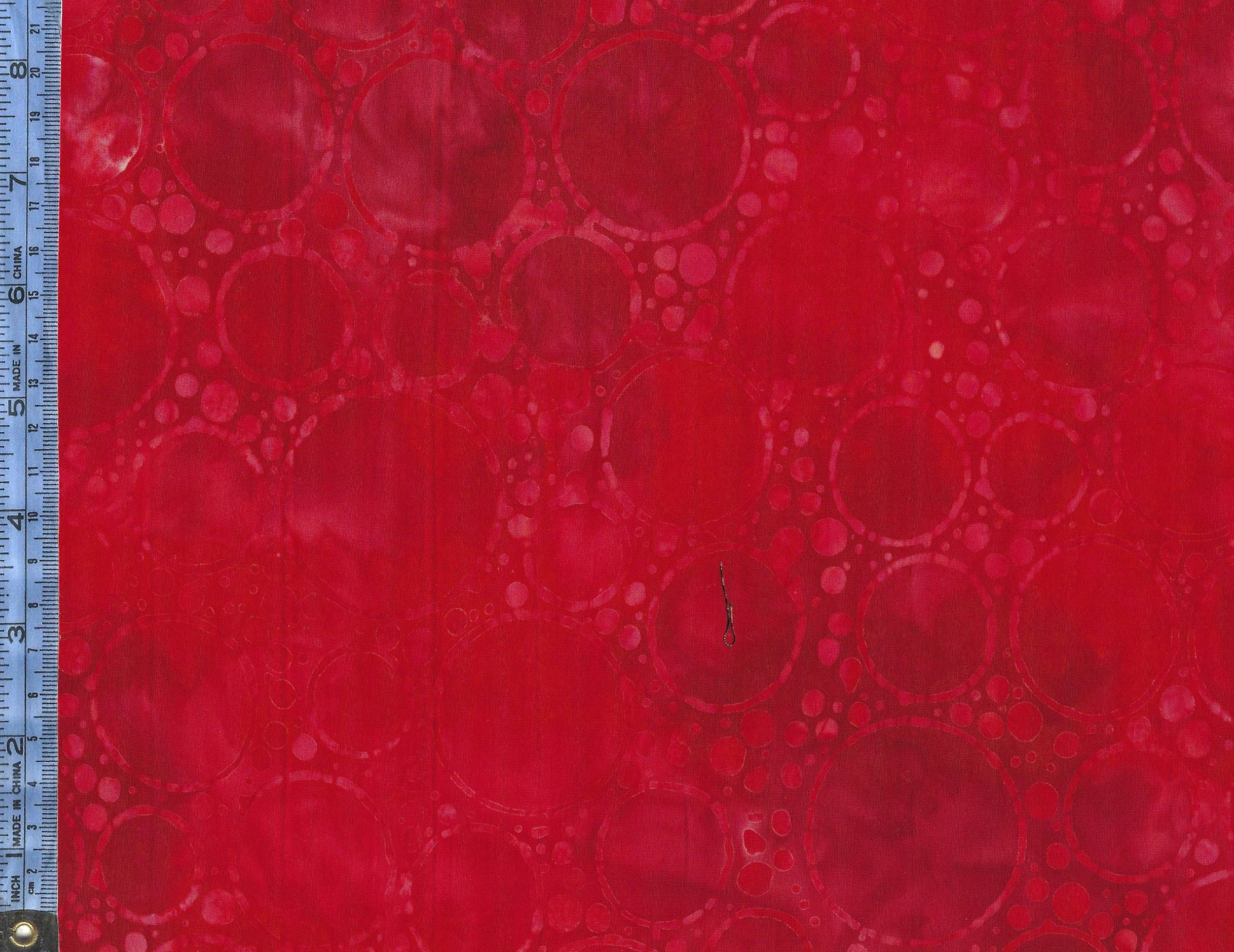Color Source 7 - (16154-91-crimson) pale  red circles and dots on red background