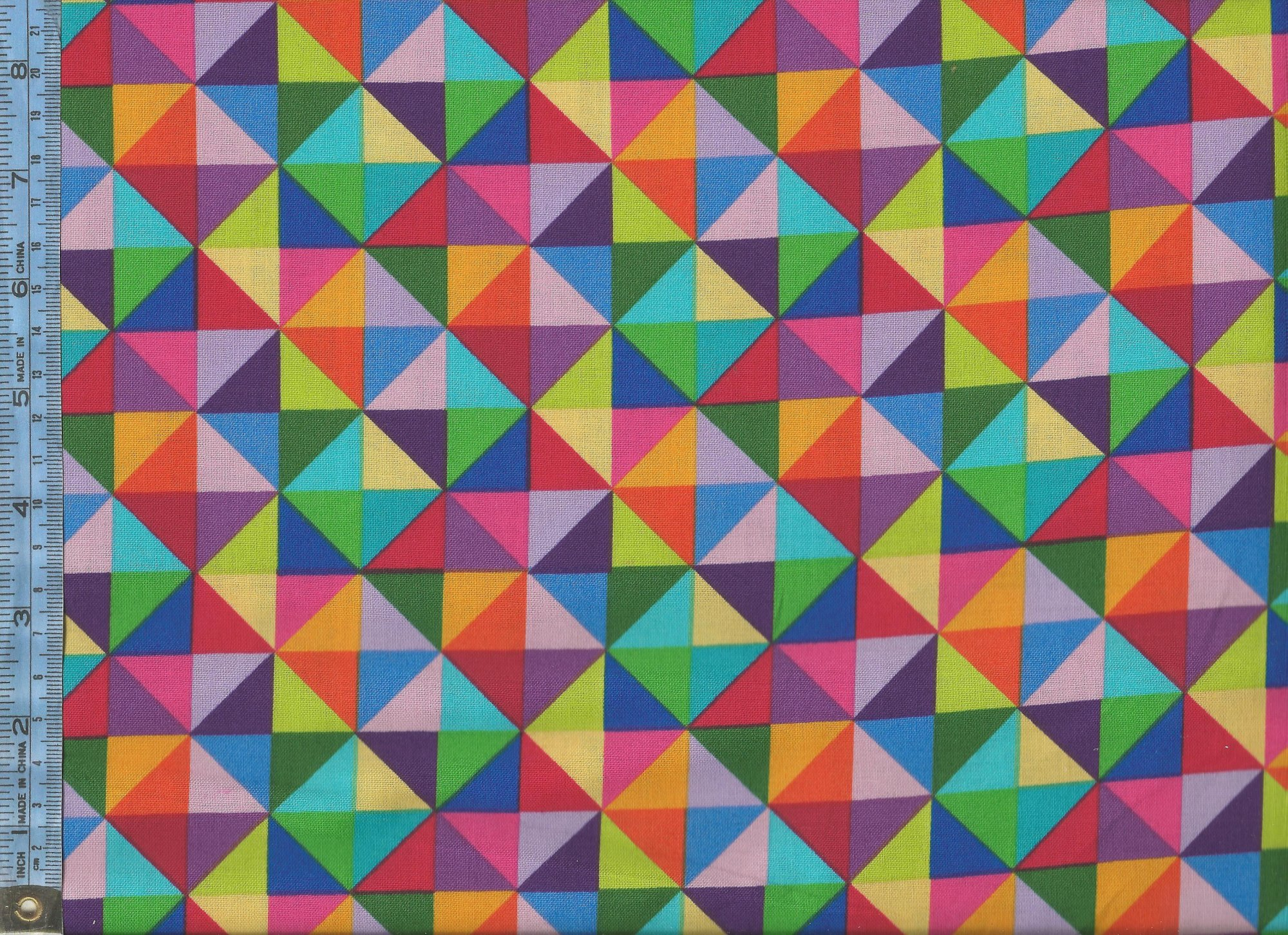 Colorworks Concepts - Phase II - (20801-44) multi-colored half-square triangles