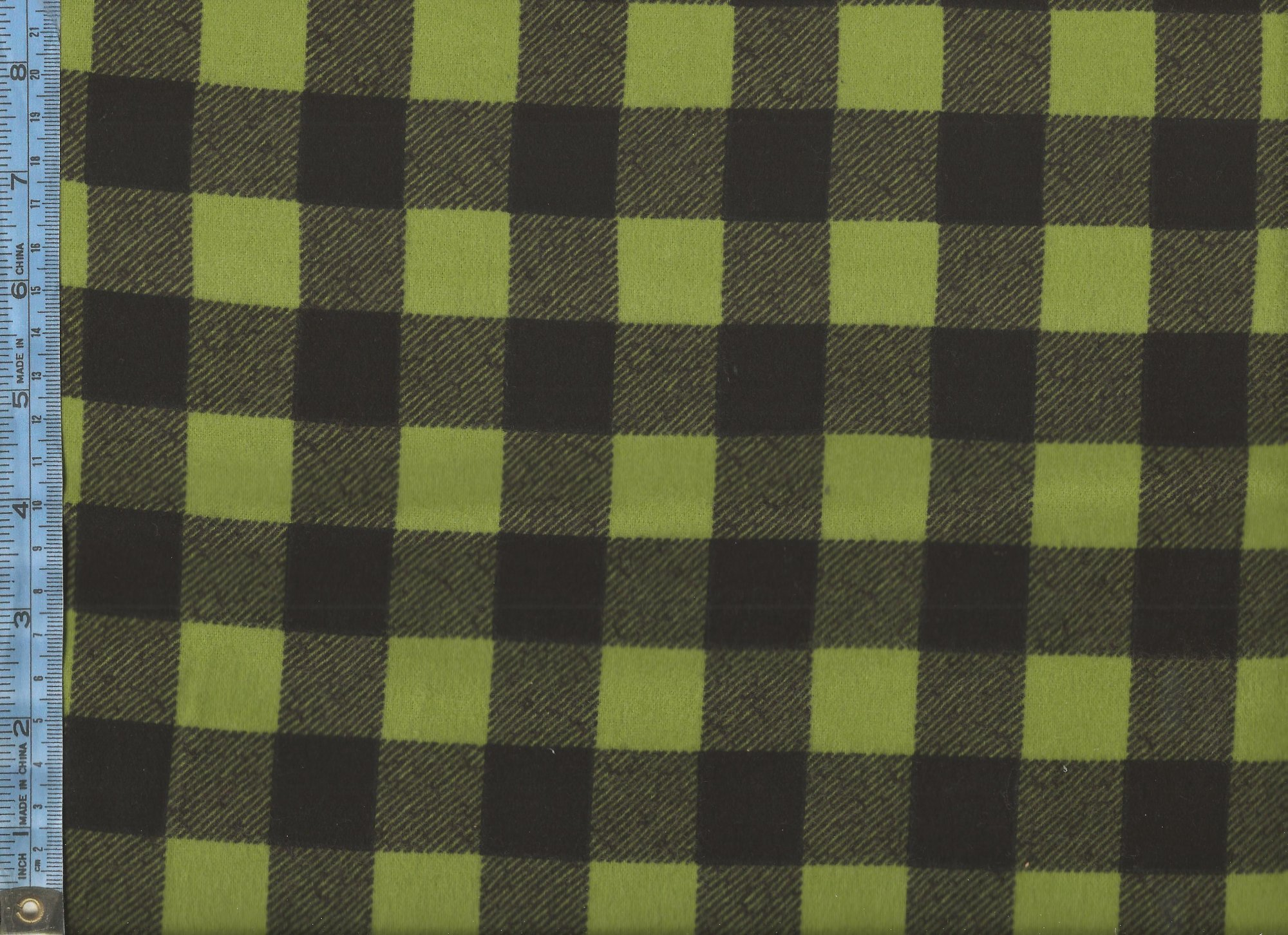 Elk Mountain Flannel - (Y1695-24-olive-FLANNEL) light green and black plaid flannel