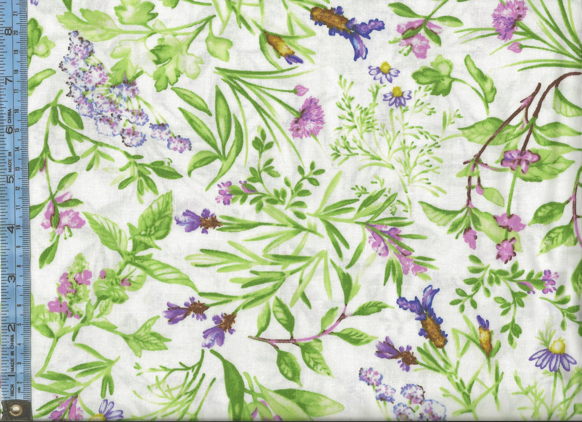 Flow blue garden herbs with purple flowers on white background mightylinksfo Choice Image