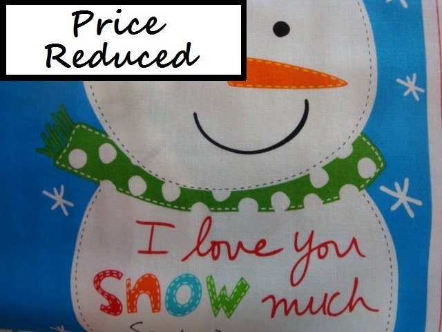 Huggable and Lovable Holiday panel - (3367P-01) snowman soft book