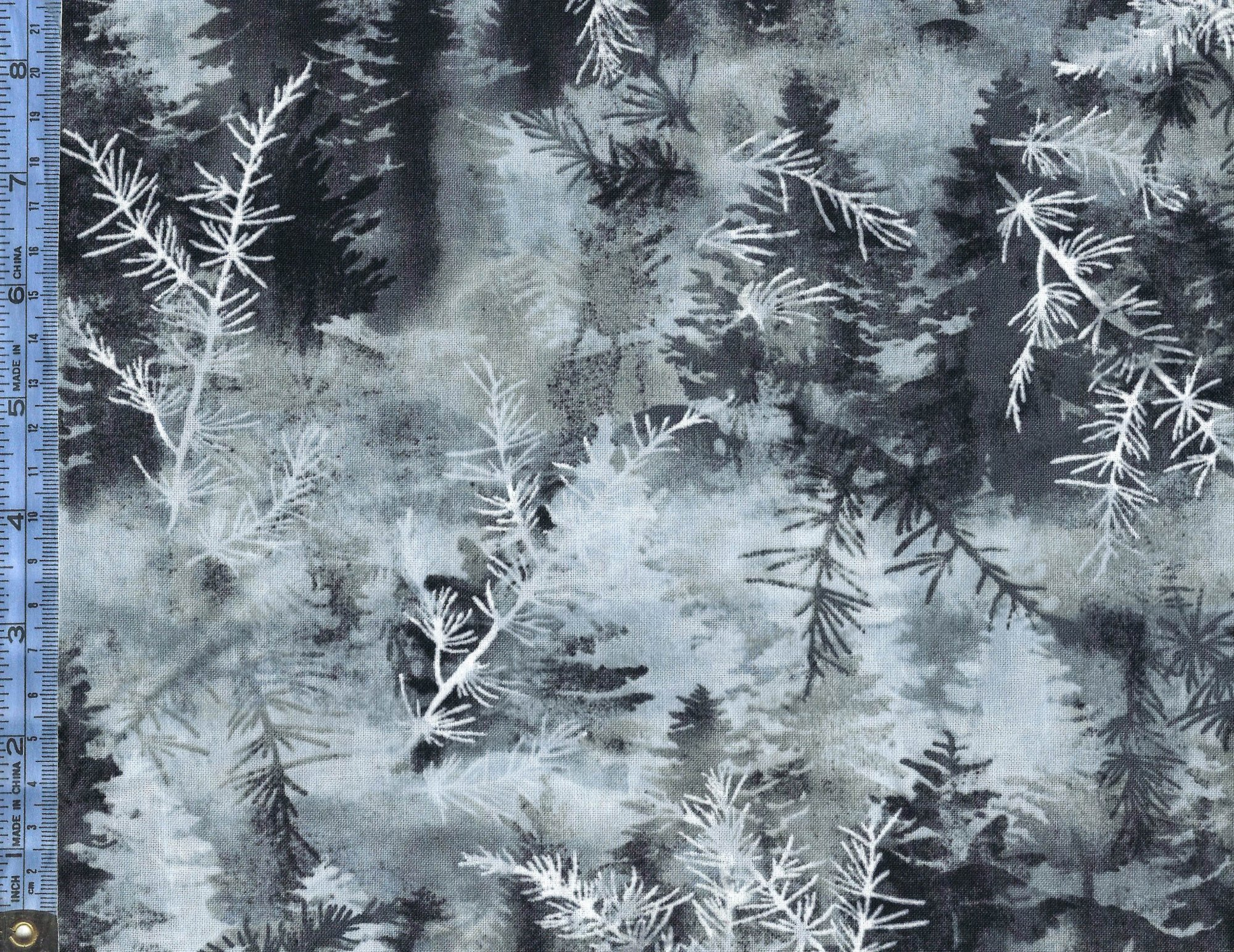 Into the Woods II - (8723-11) white and gray pine needles with pine trees
