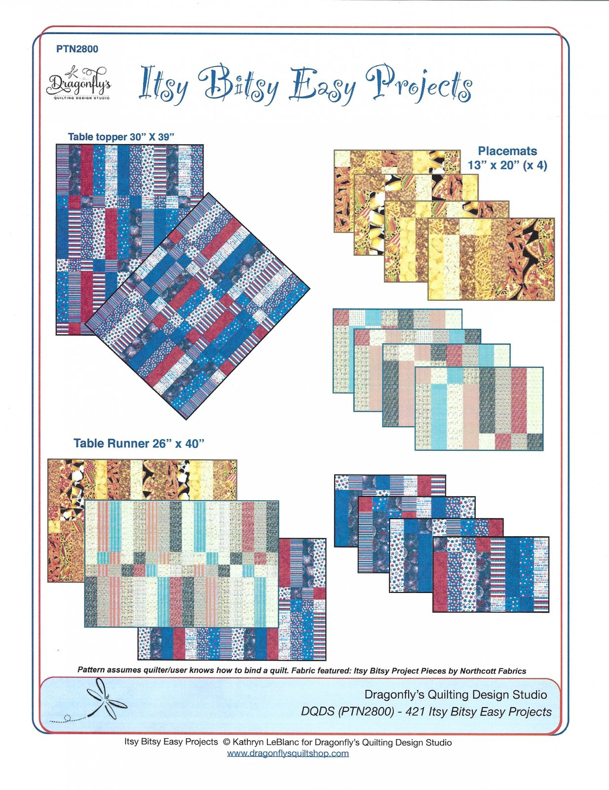 Itsy Bitsy Easy Projects pattern