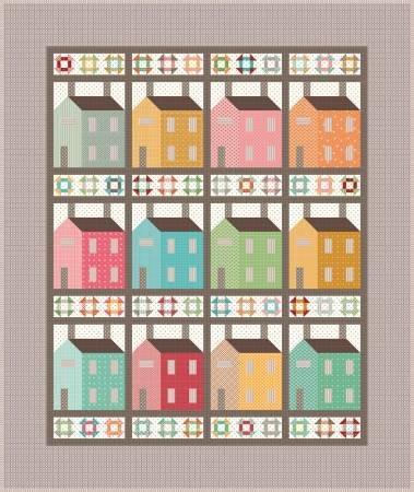 Prim Village Quilt Kit, Riley Blake by Lori Holt