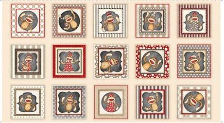 Monkey Biz panel from Quilting Treasures