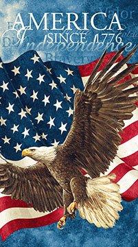 Stonehenge Stars and Stripes - (39371-49) flying eagle with waving U. S. flag panel