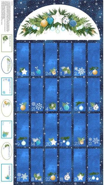 O Christmas Tree panel - (22277-49-navy) advent calendar