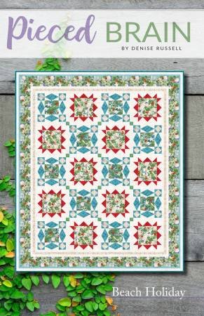 Beach Holiday Quilt Pattern by Pieced Braid Quilt Designs by Denise Russell