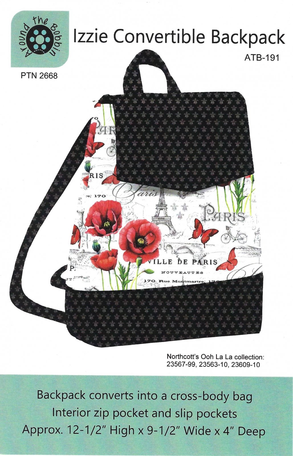Izzie Convertible Backpack pattern