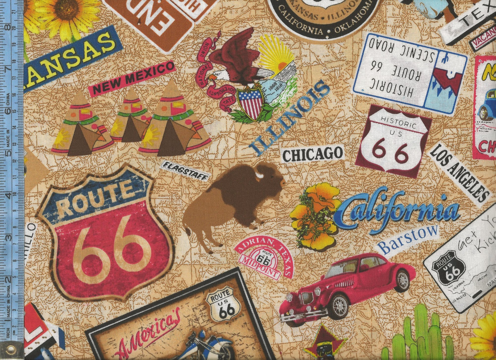 Route 66 street signs names of