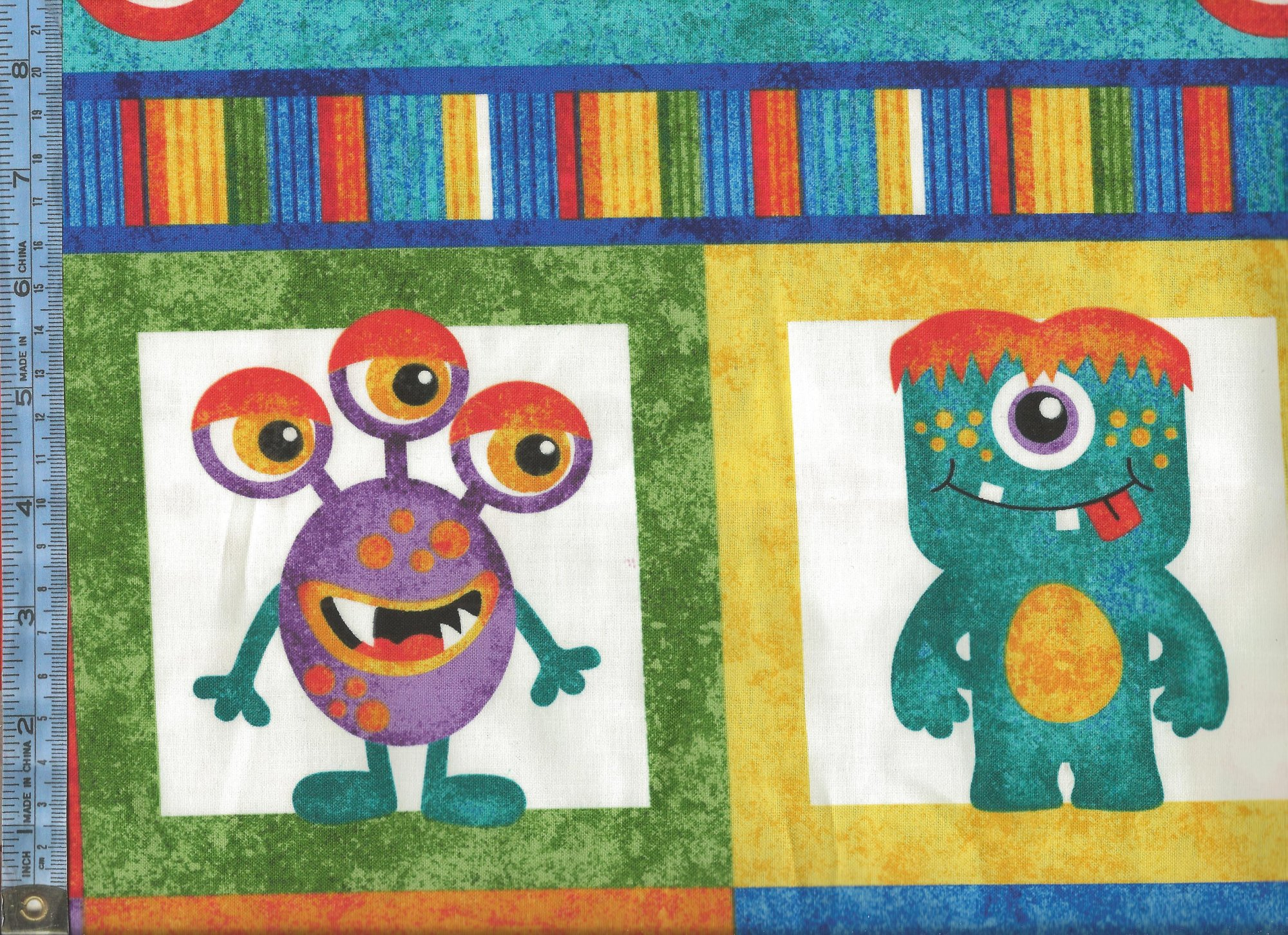 Monster Mischief Colorful Monsters With Glow In The Dark Eyes Panel